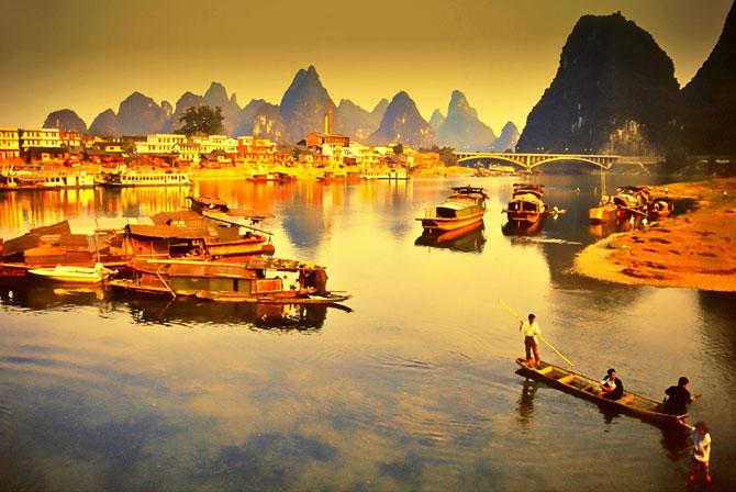 Река Ли в золоте
