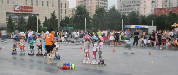 Сдача роликов в прокат на площади